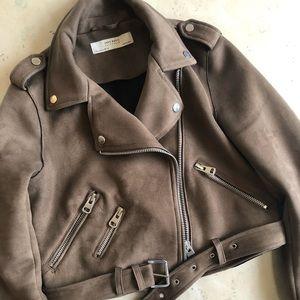 Zara Cropped Moto Jacket